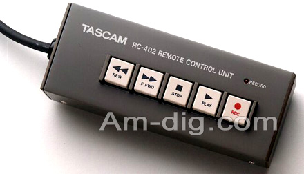 Tascam RC-402:  Wireless Remote Adapter from Am-Dig
