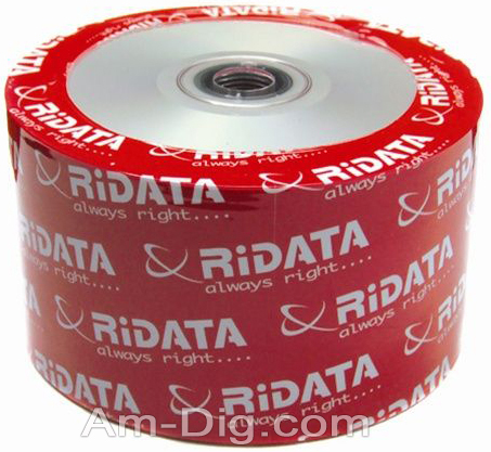 Ridata/Ritek 80min/700mb InkJet Silver CD-R from Am-Dig