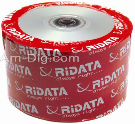 Ridata/Ritek 80min/700mb InkJet White CD-R from Am-Dig