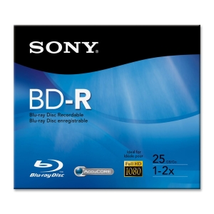 Sony Bnr25Rh 25GB Recordable 2X Single Layer Jc from Am-Dig