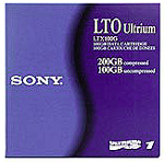 Sony LTX100GWW: 100/200GB LTO Ultrium 1 Cartridge from Am-Dig