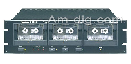Tascam T-3000: Stereo Cassette Duplicator from Am-Dig