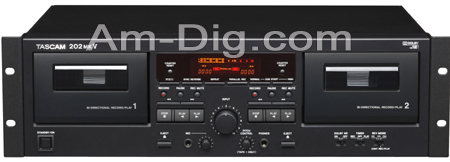 Tascam 202mkV Dual Cassette Deck from Am-Dig
