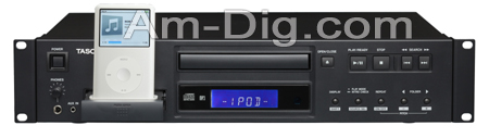 Tascam CD-200i CD Player With iPod Dock from Am-Dig