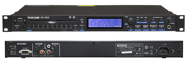 TASCAM CD-500 Single Rackspace CD Player from Am-Dig
