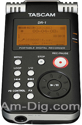 Tascam DR-1 Solid State Recorder from Am-Dig