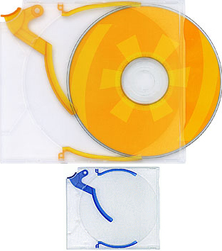 Trigger Cases for CD/DVD/BluRay - Blue from Am-Dig