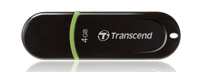 Transcend Black/Green JetFlash 300, 4GB, USB 2.0 from Am-Dig
