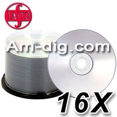Taiyo Yuden / CMC Unbranded 16x plus DVD+R from Am-Dig