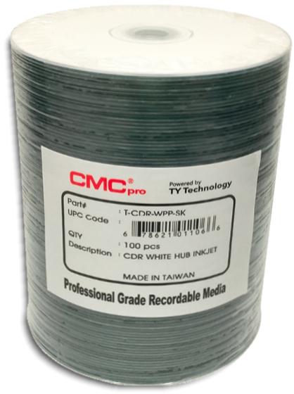 Taiyo Yuden / CMC HubPrintable Inkjet White CDR80 from Am-Dig