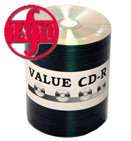 Taiyo Yuden Value CDR-80 Unbranded Silver Bulk from Am-Dig