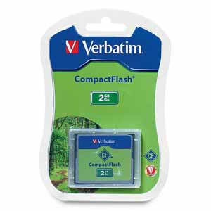 Verbatim 47012: CompactFlash Memory Card, 2GB, TAA from Am-Dig