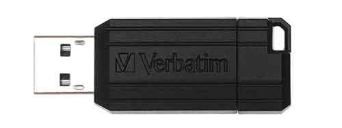 Verbatim 49061: Black PinStripe USB Flash Drive from Am-Dig