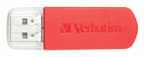 Verbatim 49831 Store n Go Mini Red USB Flash Drive from Am-Dig