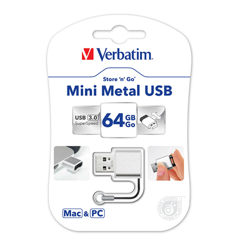 Verbatim 49841: Store n Go 64GB Mini Metal USB from Am-Dig
