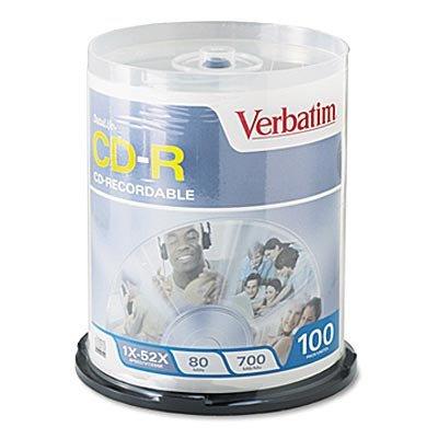 Verbatim 94760 AZO CD-R 700MB 52x DLP-10pk Slim from Am-Dig