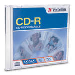 Verbatim 94795: CD-R 700MB 52x Printble White 50pk from Am-Dig