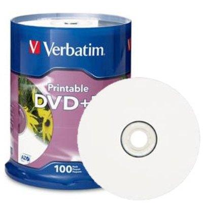 Verbatim 95145:DVD+R 4.7GB 16X White Inkjet  from Am-Dig