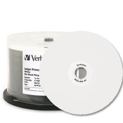 Verbatim 95251: CD-R 700MB 52x White Inkjet- 100pk from Am-Dig