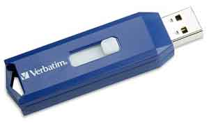 Verbatim 97086: USB Blue Flash Drive, 2GB, USB 2.0 from Am-Dig
