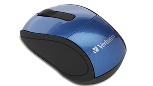 Verbatim 97471: Wireless Mini Travel Mouse, Blue from Am-Dig