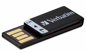 Verbatim 97555: Clip-It USB Black Flash Drive, 4GB from Am-Dig