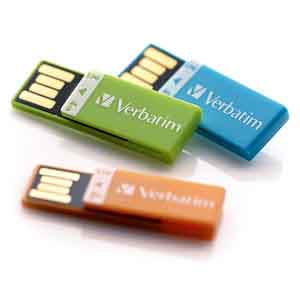 Verbatim 97563: Clip-It Orange USB, 4GB from Am-Dig