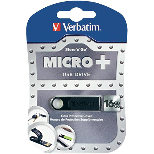 Verbatim 97764 Store n Go 16GB MicroPlus Black USB from Am-Dig