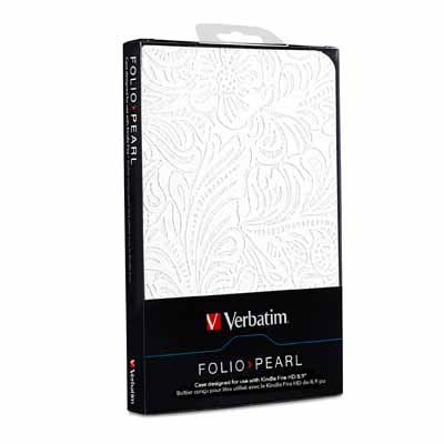 Verbatim 98086 White Folio Kindle Fire HD 8.9 Case from Am-Dig