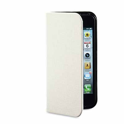 Verbatim 98089:White Folio Pocket Case for iPhone5 from Am-Dig