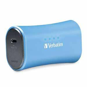 Verbatim 98359: Aqua Blue Portable Power Pack USB from Am-Dig