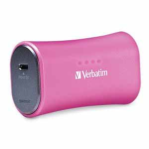 Verbatim 98361: Pink Portable Power Pack USB from Am-Dig
