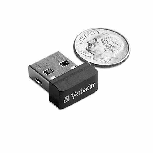 Verbatim 98365: Store n Stay Nano 64GB Black USB from Am-Dig