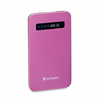 Verbatim 98452: Pink Ultra-Slim Power Pack USB from Am-Dig