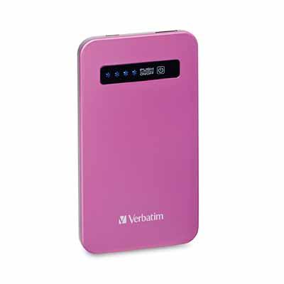 Verbatim 98452: Pink Ultra-Slim Power Pack USB from Am-Dig