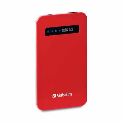 Verbatim 98453: Red Ultra-Slim Power Pack USB  from Am-Dig