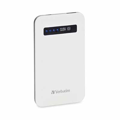 Verbatim 98454: White Ultra-Slim Power Pack USB from Am-Dig
