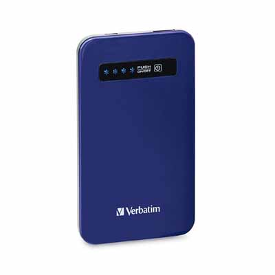 Verbatim 98455: Blue Ultra-Slim Power Pack  from Am-Dig
