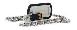 Verbatim 98505: Dog Tag Black USB Flash Drive, 8GB from Am-Dig