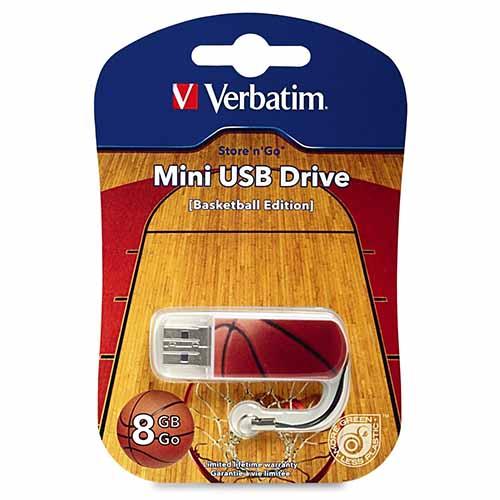 Verbatim 98507 Store n Go Mini 8GB USB- Basketball from Am-Dig