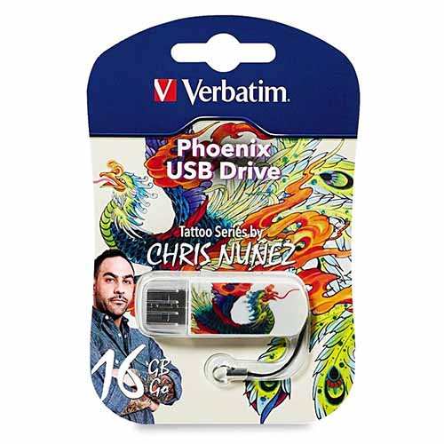 Verbatim 98517: Mini 16GB USB- Phoenix Tattoo from Am-Dig