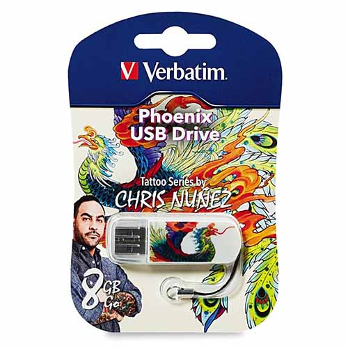 Verbatim 98662: Mini 8GB USB- Phoenix Tattoo from Am-Dig