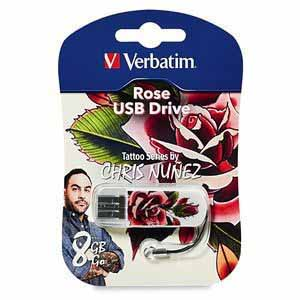 Verbatim 98660: Mini Tattoo USB Flash Drive, 8GB from Am-Dig