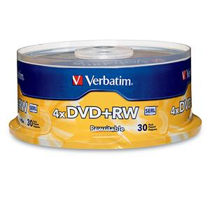 Verbatim 94834 DVD+RW 4.7GB 4x- 30pk Spindle