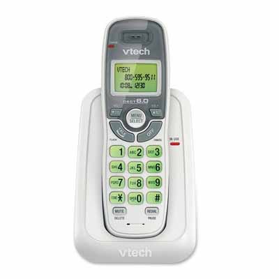 VTech CS6114: Cordless Phone White/Grey 1 Handset from Am-Dig