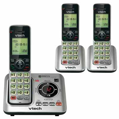 VTech CS662933 Silver/Black Cordless Handset Phone from Am-Dig