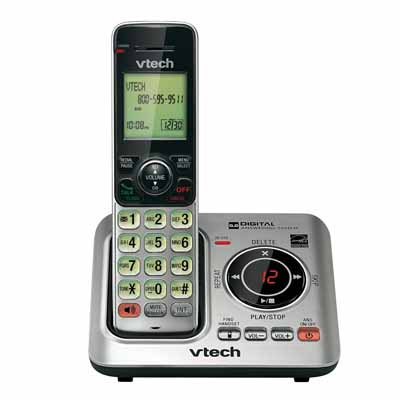 VTech CS66291: Silver/Black Cordless Handset Phone from Am-Dig