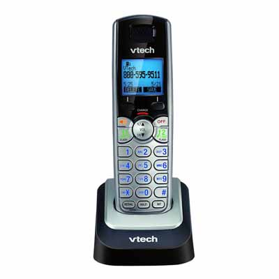 VTech DS6101: Black/Silver Cordless Handset from Am-Dig