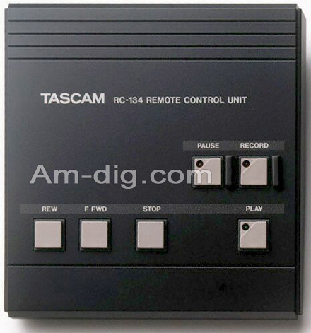 Tascam RC-134 Wireless Remote(112RMKII 134 134B..) from Am-Dig