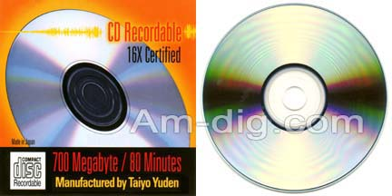 Taiyo Yuden / CMC 700mb 80min Unbranded Tapewrap from Am-Dig